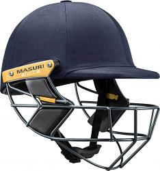 Masuri Test OS Steel Grill Navy Cricket Helmet