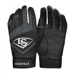 Loiusville Genuine Baseball Black Batting Gloves [Size: Youth Large]