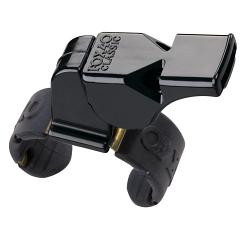 Fox 40 Classic Official Fingergrip Black Plastic Whistle