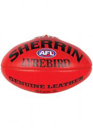Sherrin Lyrebird Leather Aussie Rules Football