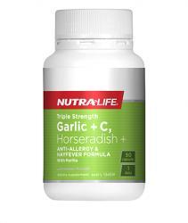 Nutra-Life Triple Strength Garlic + C Horseradish & Histidine